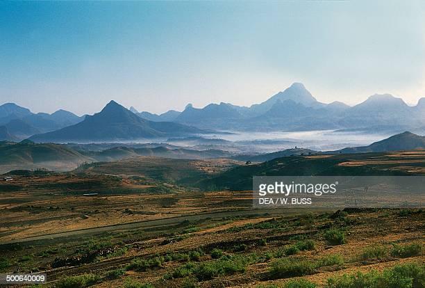 Scenery along the road between Adigrat and Adwa Tigray Ethiopia