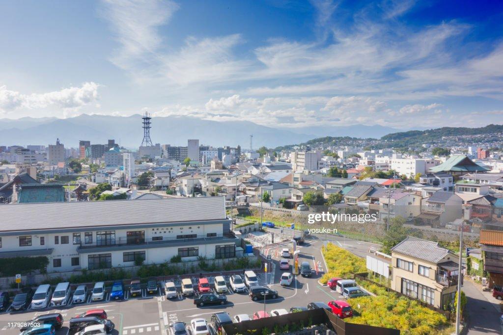 Scenery around Matsumoto Station in japan : Stock Photo