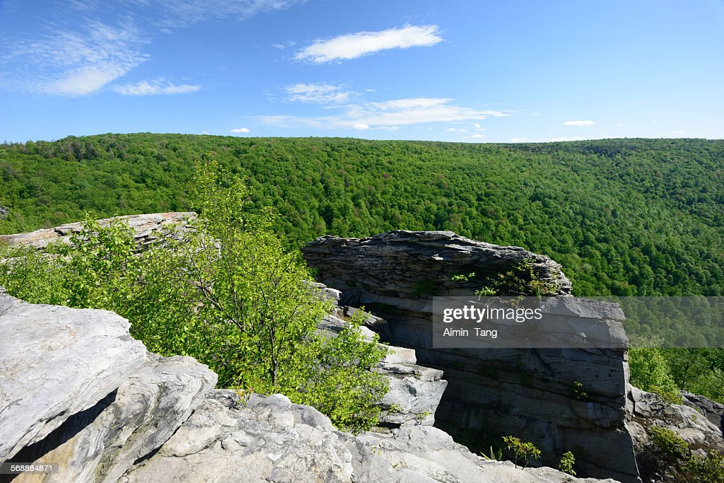 Scenery at Lindy Point Overlook in West Virginia : Stock Photo