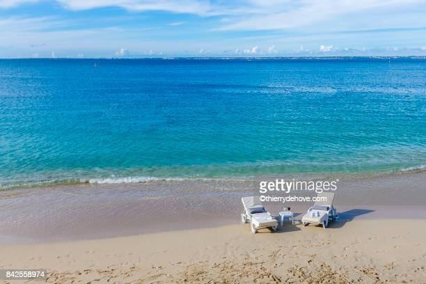 Scenery from Saint Martin's Beach in Caribbean