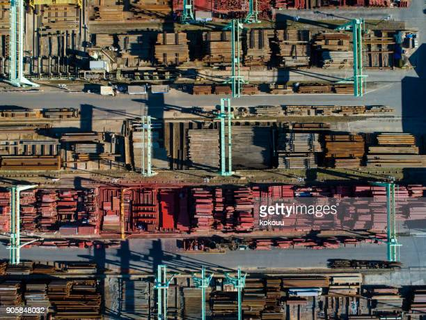scenery from the top of the industrial area. - barrier highway stock photos and pictures