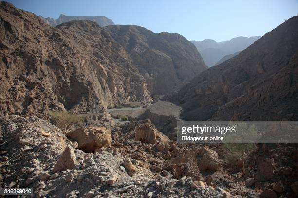 Scenery In The Jebel Harim Area In The Granny's Niches Enclave of Musandam Oman