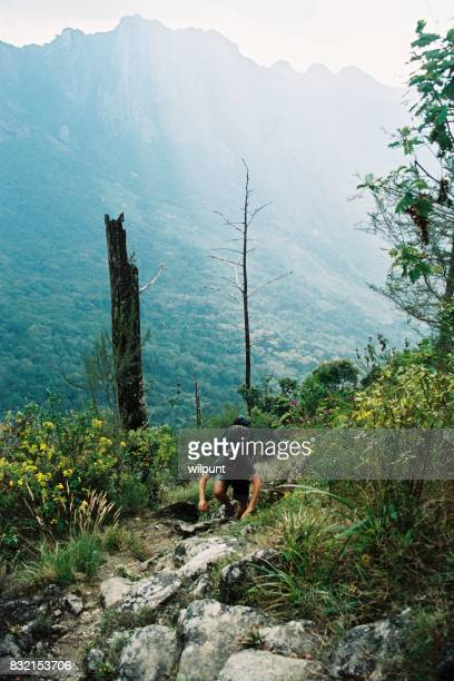 Scenery Mount Mulanje with hiker