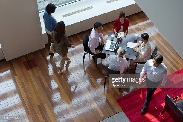 scenery of businesspeople in office
