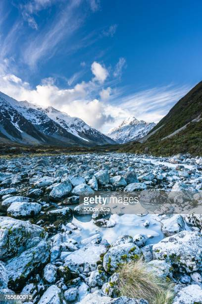 Scenery of Hocker Valley Track and Mount Cook, New Zealand