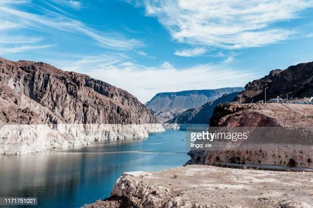 scenery of lake mead, western united states - nevada stock-fotos und bilder