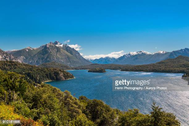 scenery of nahuel huapi lake, bariloche, patagonia, argentina - bariloche stock pictures, royalty-free photos & images
