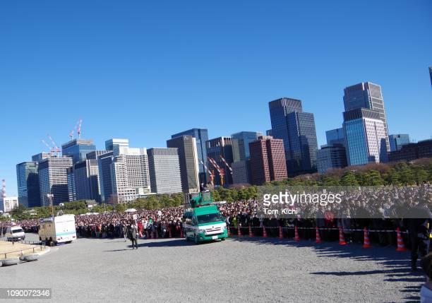 landschap van new year day in japan/laatste viering van de heisei-tijdperk - nieuwjaarsreceptie stockfoto's en -beelden