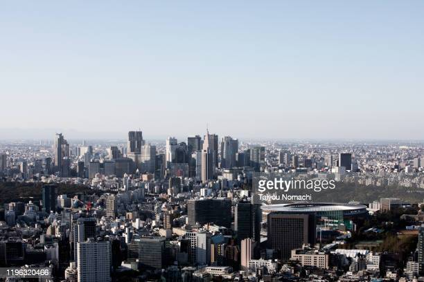 scenery of shinjuku - 代々木 ストックフォトと画像