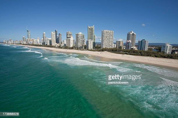 Scenery of the gold coast and tall buildings
