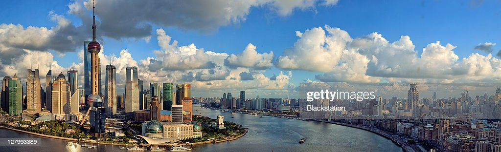 Scenery On Both Sides Of Huangpu River Stock Photo
