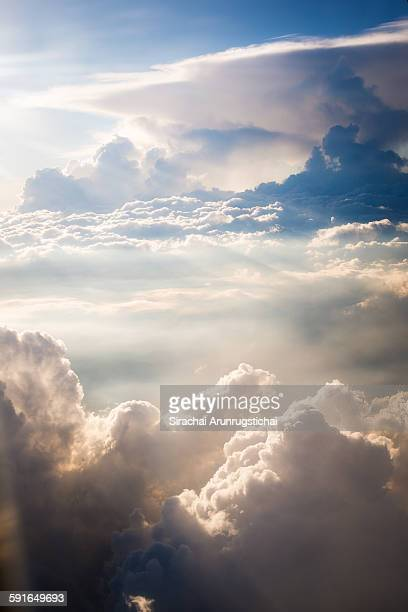 scenery over clouds - elysium stock pictures, royalty-free photos & images
