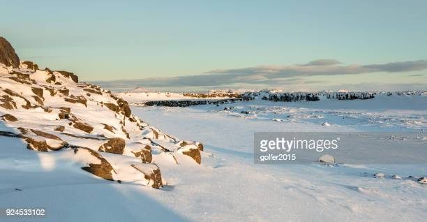 scenery - selfoss/dettifoss walkway - north iceland - selfoss stock photos and pictures