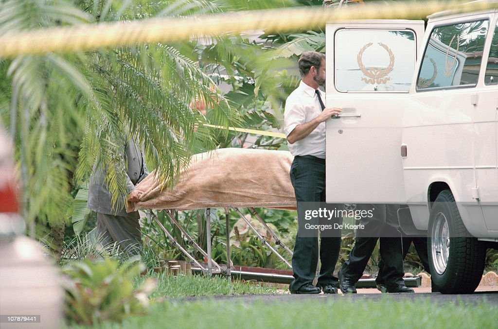 Scenes after the murder of Italian fashion designer Gianni Versace outside his Miami Beach home, Florida, 15th July 1997.