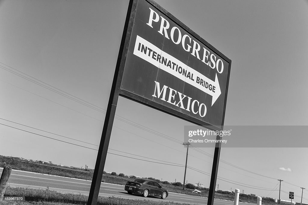 Scenes around the border town of Nuevo Progreso on April 23