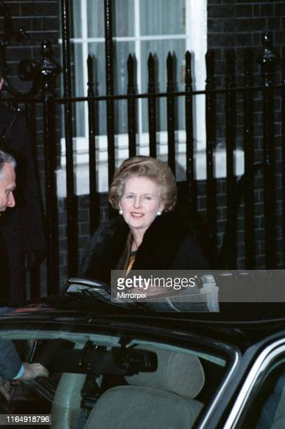 Scenes at 10 Downing Street amid the Conservative Party leadership battle Prime Minister Margaret Thatcher 21st November 1990
