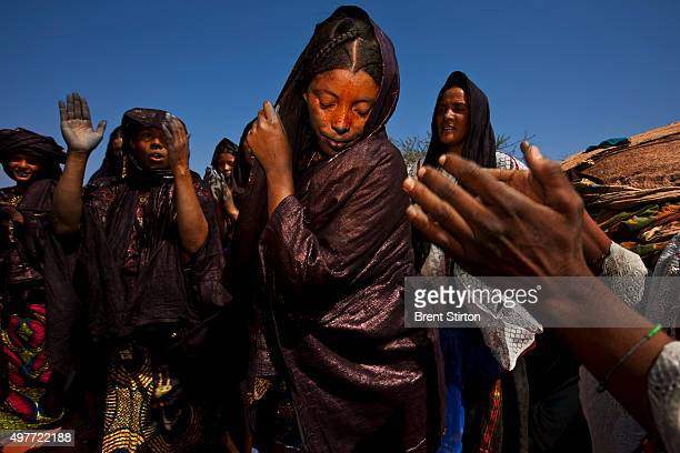 Scenes at a Baptism in a Tuareg Nomad camp on October 11, 2009 in Ingal, Niger. Tuareg Baptism is very simple, three names are discussed by elders...