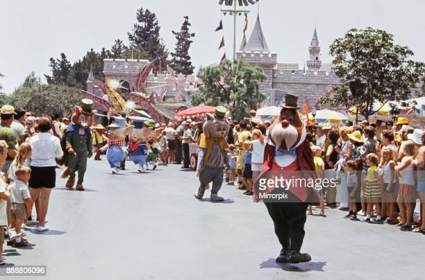 Scenes at the Disneyland theme park in Anaheim California United States Fairytale characters including the three little pigs and the big bad wolf...