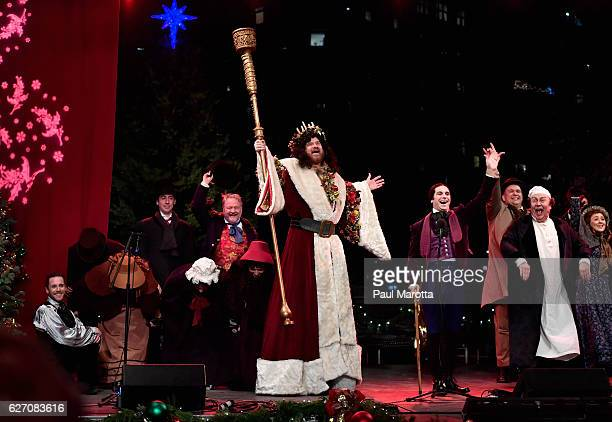 Scenes from A Christmas Story at the Annual Boston Christmas Tree Lighting at Boston Common Park on December 1 2016 in Boston Massachusetts The...
