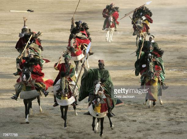 Scenes from a Durbar that Prince Charles The Prince Of Wales is attending with Emir Al Haji Ado Bayero at the Emirs palace on November 29 2006 in...
