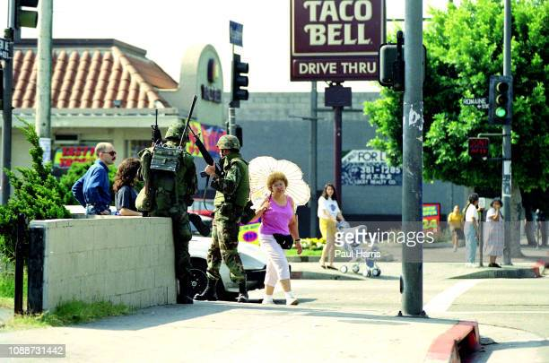 Scenes from downtown Los Angeles after the Los Angeles Riots May 2 1992 Los Angeles California