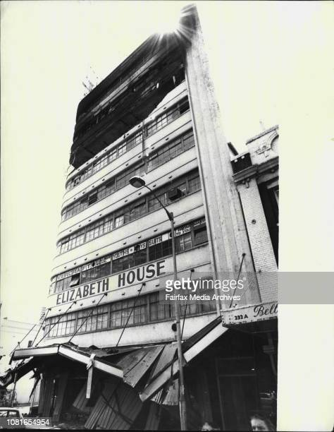 Scenes from Elizabeth Street explosion morning after blast in PictureThe sunrise atmosphere pic of the damaged building this morning December 01 1974
