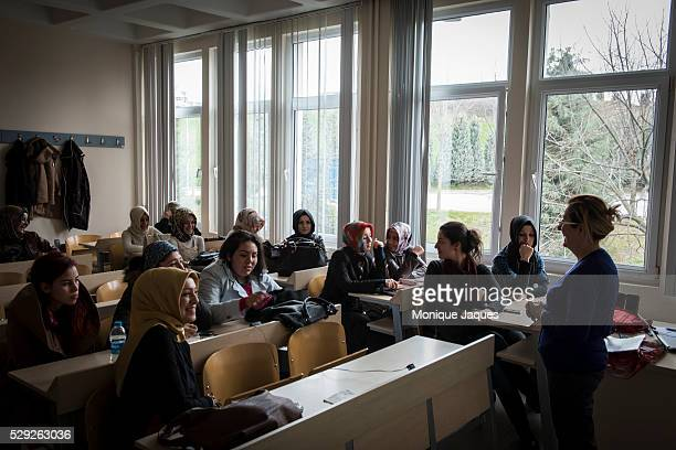 Scenes from faith University in Istanbul Turkey The University one of the learning establishments founded by the Gulen movement or Cemaat an...