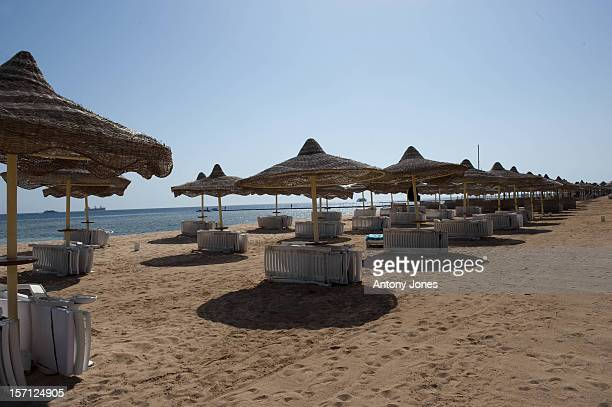 Scenes From Hotels In The Egyptian Resort Of Sharm El Sheikh Resorts Are Deserted With No Holiday Makers And Empty Sunbeds And Beaches Hotels Are...