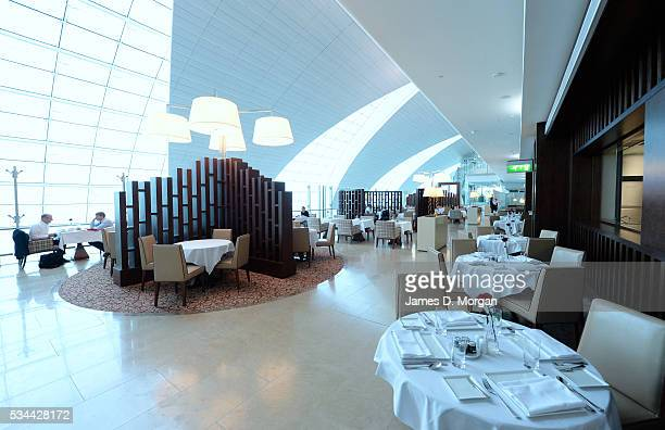 Scenes from inside the Emirates Dubai First and Business class lounges on September 3 2013 in Dubai United Arab Emirates