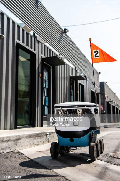 Scenes from inside the Grand Food Depot on Thursday, Sept. 17, 2020 in Los Angeles, CA. As of now, the facility uses automated robots to retrieve the...