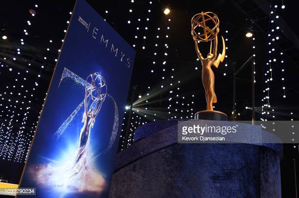Scenes from the 70th Emmy Awards Governors Ball and 2018 Creative Arts Governors Ball press preview at L.A. Live Event Deck on September 6, 2018 in...