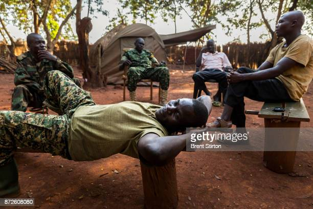 Scenes from the African Union Ugandan Armed forces UPDF base at Obo Central African Republic These men pictured are all former LRA soldiers abductees...