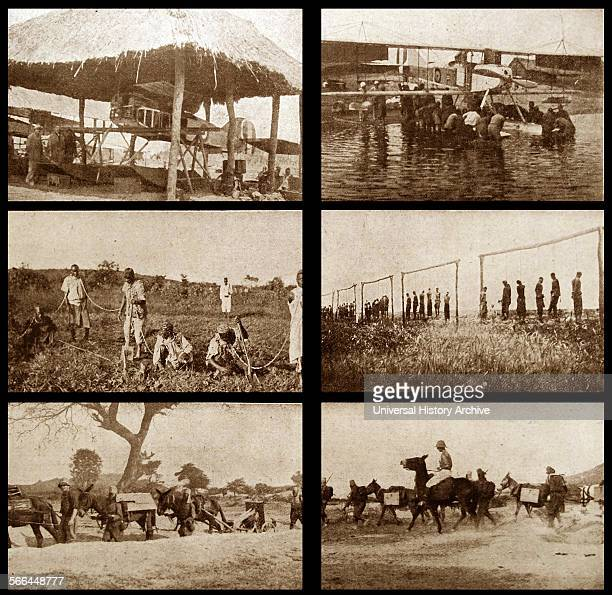 Scenes from the conquest of German East Africa now Tanzania Dated 1914
