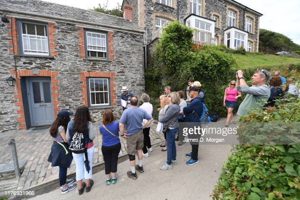Scenes from the Cornish fishing village of Port Isaac on August 09, 2019 in Port Isaac, Cornwall, England The small village is besieged by fans of...