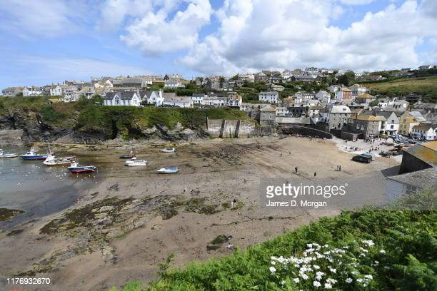 Scenes from the Cornish fishing village of Port Isaac on August 09 2019 in Port Isaac Cornwall England The small village is besieged by fans of the...