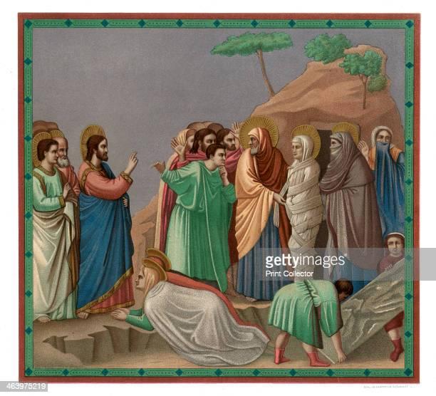 'Scenes from the Life of Christ Raising of Lazarus' 13041305 Fresco in the Cappella Scrovegni Padua A print from Les Chef D'oeuvre de la Peinture...