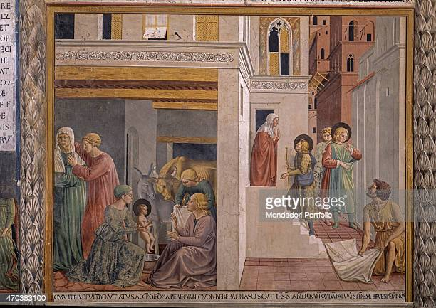 'Scenes from the life of St Francis by Benozzo Gozzoli 15th century fresco Italy Umbria Montefalco Museum Complex of St Francis Detail From the first...