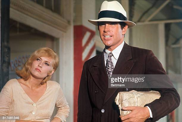 Scenes from the movie Bonnie and Clyde with Warren Beatty and Faye Dunaway Produced by Warner Brothers Studios