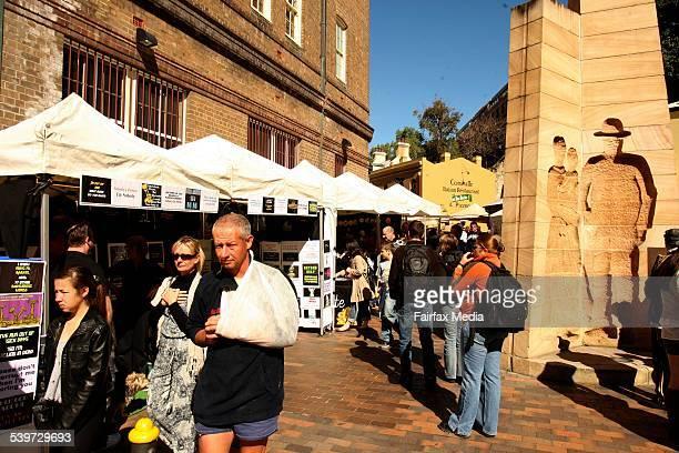Scenes from The Rocks Markets in Sydney