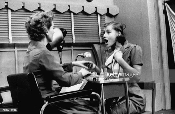 Scenes from The Women Nita Talbot registering surprise in beauty parlor
