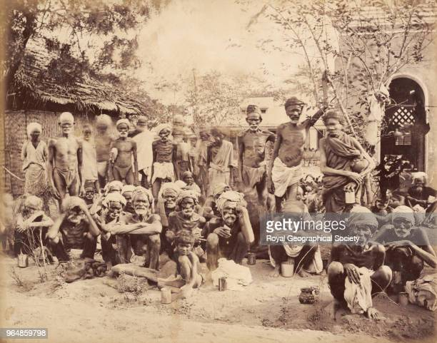 Scenes in a relief camp Madras India 1876 Madras Famine 18761878