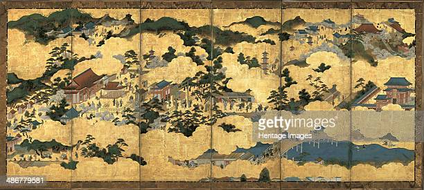 Scenes in and around Kyoto ca 1690 Artist Anonymous