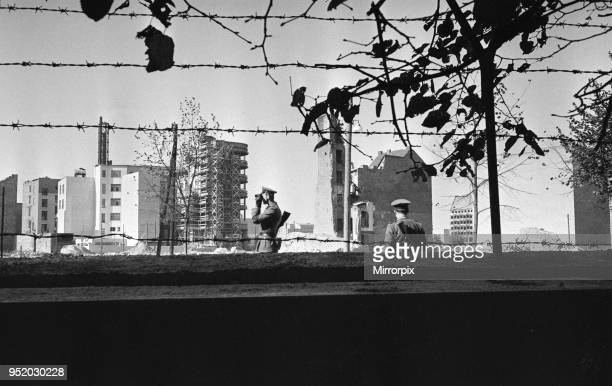 Scenes in Berlin shortly after the erection of the Berlin Wall dividing the Soviet occupied Eastern sector of the city from the Allied occupied...