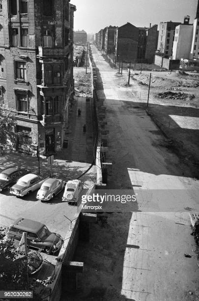 Scenes in Berlin shortly after the erection of the Berlin Wall, dividing the Soviet occupied Eastern sector of the city from the Allied occupied...