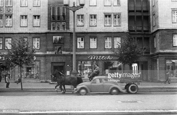 Scenes in East Berlin East Germany showing daily life continuing as normal soon after the start of the construction of the Berlin Wall 18th August...