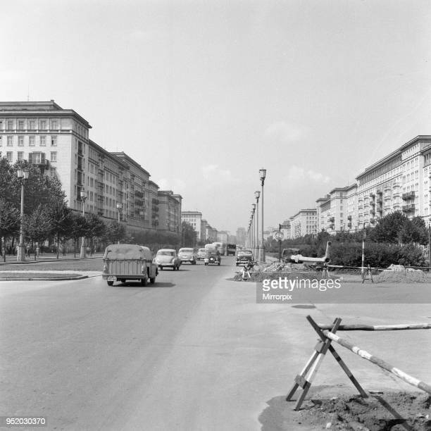 Scenes in East Berlin, East Germany showing daily life continuing as normal soon after the start of the construction of the Berlin Wall, 18th August...