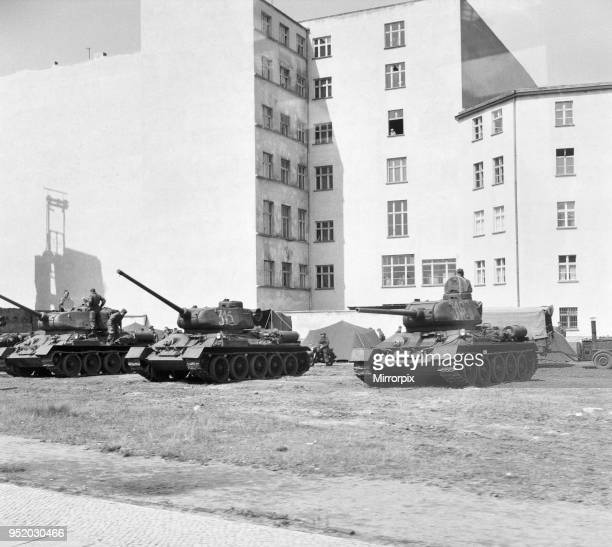 Scenes in East Berlin, East Germany showing daily life continuing as normal soon after the start of the construction of the Berlin Wall. Soviet tanks...