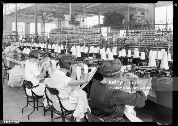 Scenes in Inglewood plant International Textile Co Inglewood California 1928