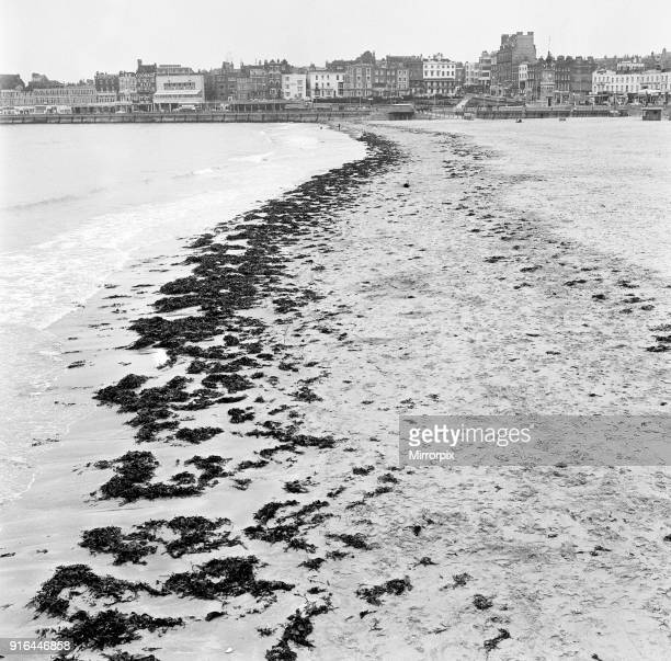 Scenes in Margate Kent during Good Friday A deserted beach 27th March 1964