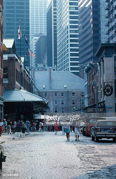 Scenes in the South Street Seaport area, New York, New York, July 31, 1983.